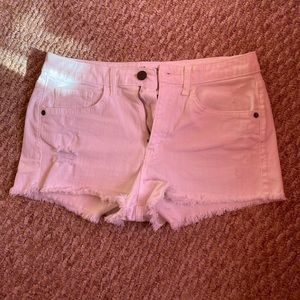 Mossimo Supply Co. White High Rise Shorts